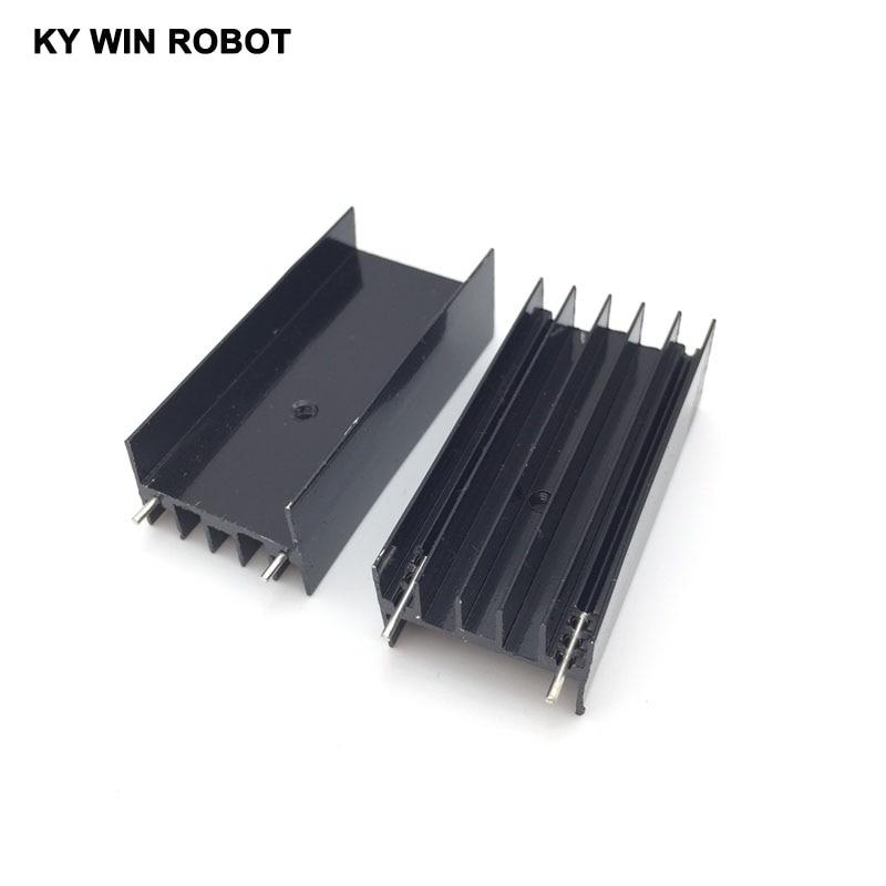 TO-220 Aluminum White Heatsink Transistor Heat Sink Radiator Cooling Fin for PC