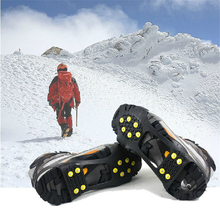 Over Shoe Studded Snow Grips Ice Grips Anti Slip Snow Crampons Cleats M Thermoplastic elastomer Durable overshoes