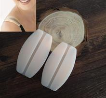 1Pair 2 Colors Silicone Bra Strap Cushions Holder Non-slip Shoulder Pads Relief Pain Straps Pad