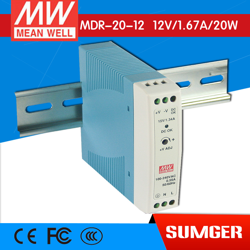 [Sumger] MEAN WELL original MDR-20-12 12V 1.67A meanwell MDR-20 12V 20W Single Output Industrial DIN Rail Power Supply<br><br>Aliexpress
