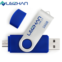 LEIZHAN USB 2.0 Flash Drive USB Flash Disk OTG Micro USB Phone 4GB 8GB 16GB 32GB 64GB Pen Drive Memory Stick Flash Disk Pendrive