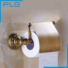 2016 Bathroom Products Banyo Aksesuarlari Antique Copper Toilet Paper Holder Reeling-up Stand Bathroom Accessories