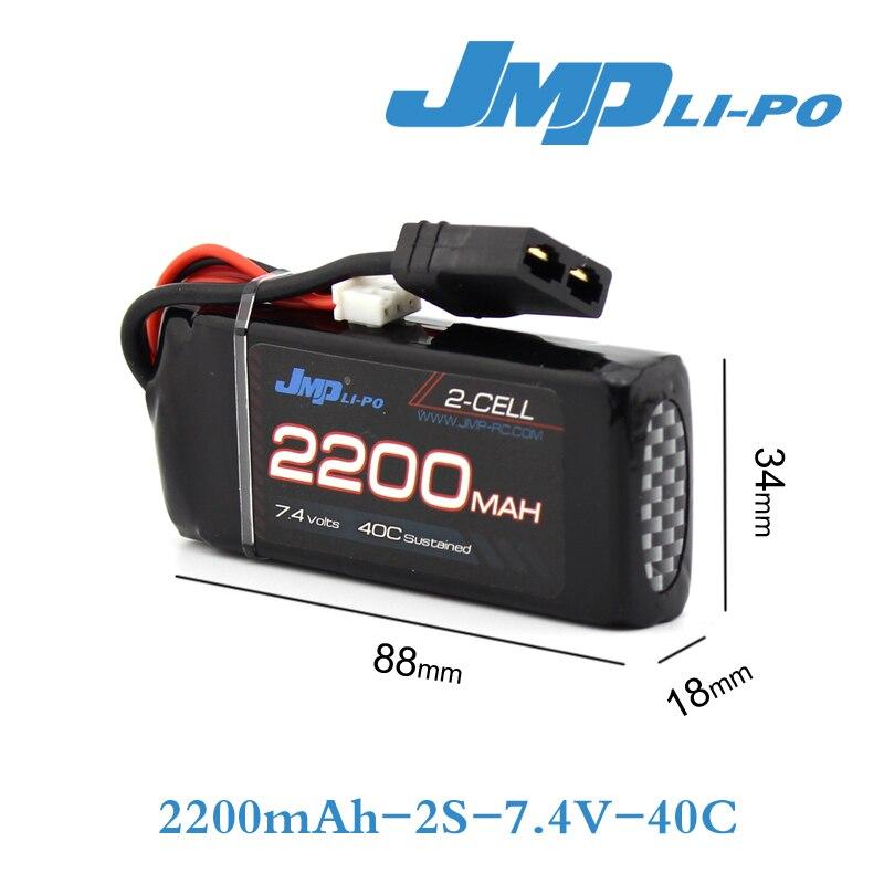 JMP Lipo Battery 2S 2200mAh Lipo 7.4V Battery Pack 40C Battery for TRAXXAS 1/16 summit e-revo slash<br>