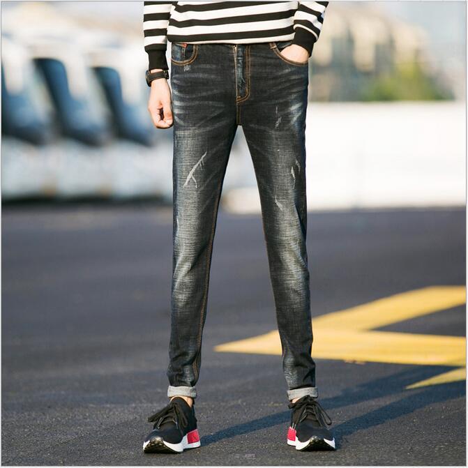 free shipping 2017 fashion male straight leg denim trousers men brand jeans 28-36 mens business pants black jeans menОдежда и ак�е��уары<br><br><br>Aliexpress
