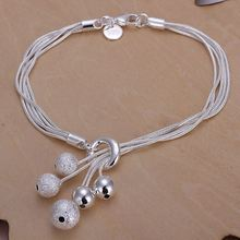 Kiteal Free shipping silver plated jewelry bracelets sand beads fine fashion bracelet top quality wholesale and retail 925 stamp