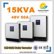 Hot Sell Solar Inverter 15Kva 15KW Off Grid Inverter 48V to 220V 50A PWM Inverters Pure Sine Wave Hybrid Inverter 60A AC Charger