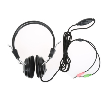 Hot 3.5mm Wired Earphone Headphone with Microphone video gaming Headset Skype for PC Computer Laptop