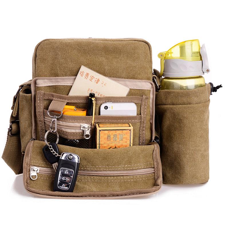 High Quality Men Canvas Bag Casual Travel Mens Crossbody Bag Luxury Men Messenger Bags<br>