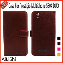 AiLiShi Flip Leather Case For Prestigio Multiphone 5504 DUO Case High Quality Protective Cover Phone Bag Wallet In Stock !(China)