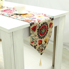 WLIARLEO Bohemian Table Runner With Tassel Printed table runners Home,Banquet Table Runner Tables Decoration Placemat tafelloper(China)