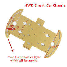 Smart Electronics Smart Car Chassis For 4WD Avoidance Tracking Motor  Smart Robot Car Chassis Kit