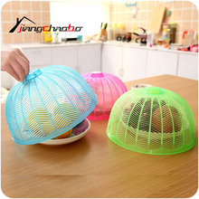 3Pcs/Lot New Food Covers Umbrella Shape Diameter 26.5cm Picnic Barbecue Party Sports Fly Mosquito Net Tent Table Food Cover(China)