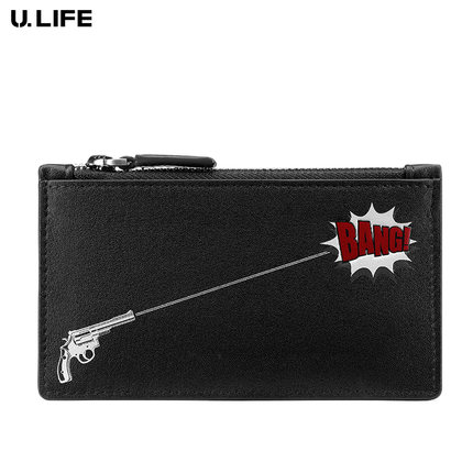 High Quality Personality Fashion Men Zipper Credit Card Holder Mini Wallet Genuine Leather Thin Short Male Wallet Coin Pocket 50<br>