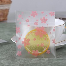 50 Pcs/lot Pink Clear Cherry Blossoms Gift Bags Wedding Party Candy Bag Cookie Biscuits Packaging Bag Christmas Gift 8Z-ca272