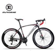 EUROBIKE 27 Speed 700C Road Bicycle Dual Disc Brake Road Bike(China)