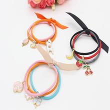 Elastic Hair Bands Solid Headwear Fruit Elastic Ring Adorable Pet Hair Rope Hair Headdress Jewelry Wholesale Manufacturers C2