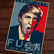 Buy 2016 Feeling Funny Classic Donald Trump Retro Vintage Kraft Decorative Poster DIY Wall Sticker Delicate Home Bar Decor Gift for $4.61 in AliExpress store