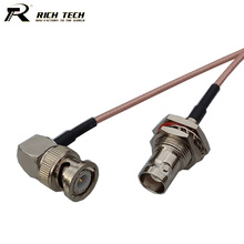 Promotion RF Connector Pigtail Cable BNC Female to Right Angle BNC Male Connector RF Coaxial RG316 Cable RF Extension Cord