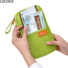 LHLYSGS Brand Women Organizer Travel Document Holder Card Wallet Mens Fashion Long Certificate Passport Package Pocket Card Pack(China)