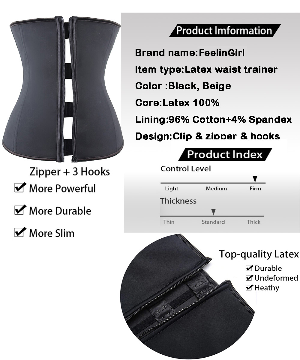 e6b2d8ad0d Latex waist training cincher could help you keep a slim figure and help you  lose weight.The molding pressure and the sauna effect will help to make  this ...