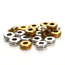 100pcs/lot Silver Gold Color Tiny Ring Spacers Beads fit DIY Bracelet and Jewelry Making Hot sale women necklace beads F2851