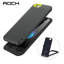 ROCK Power Stand Case For iPhone 6 6S Power Bank MFI Certified Charing Case 3500mAh with Phone Holder Battery Charger(China)