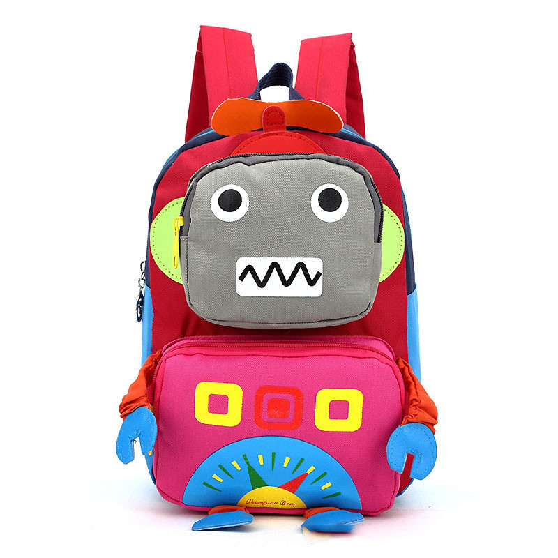 2017 3D Cartoon Robot children backpacks kids kindergarten backpack child school bags Satchel for baby boys and girls mochila<br><br>Aliexpress