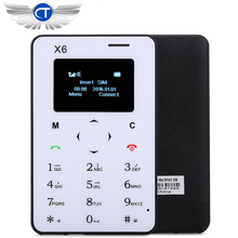 Ultra Thin AIEK X6 With English Arabic Russian Keyboard Low Radiation mini pocket students personality children phone