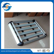Aluminum alloy 127*100cm Double deck Universal luggage rack Basket for universal car have roof rack with gap(China)