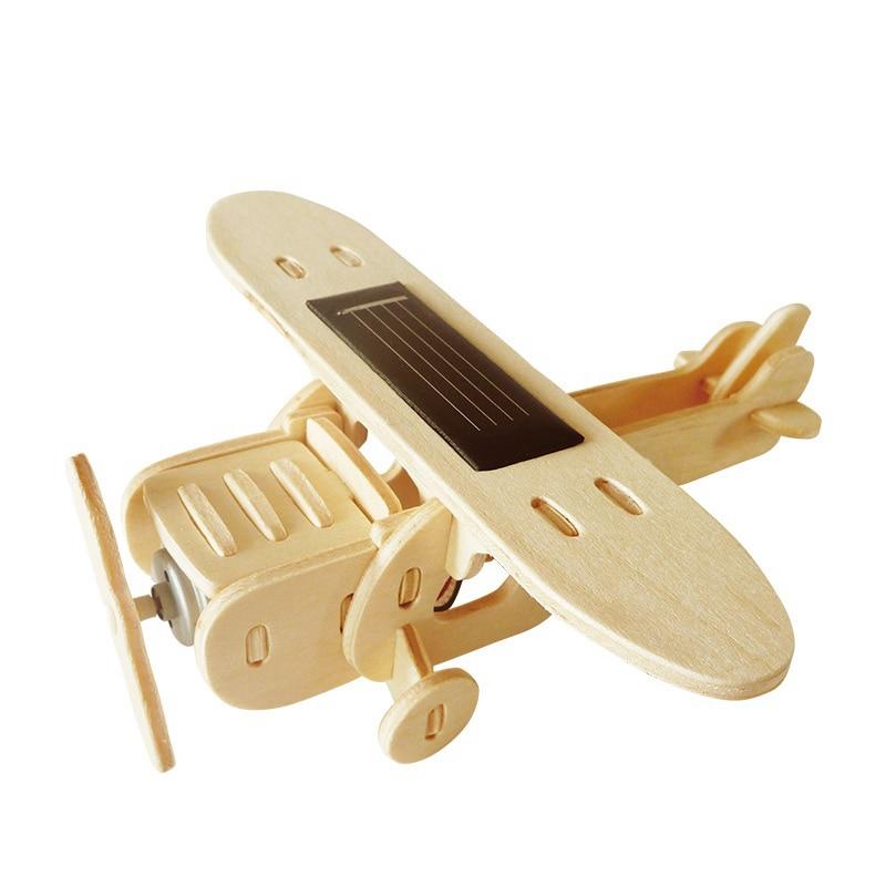 Robud 11 Kinds Solar Energy Powered Plane 3D Wooden Model Building Popular Creative Toys Hobbies Gift for Children,Teens P250 34