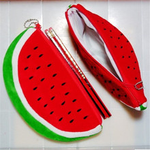 50 pcs Big volume watermelon school kids pen pencil bag case gift Pendant cosmetics purse wallet holder pouch school supplies