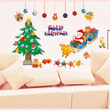New Arrivals  Christmas  PVC Removable Display Window Showcase Decor  Wall Stickers Free Shipping 0014