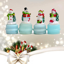 Snowman miniature Figurine fairy garden cartoon animals statue bonsai ornaments resin craft gift  christmas decorations for home
