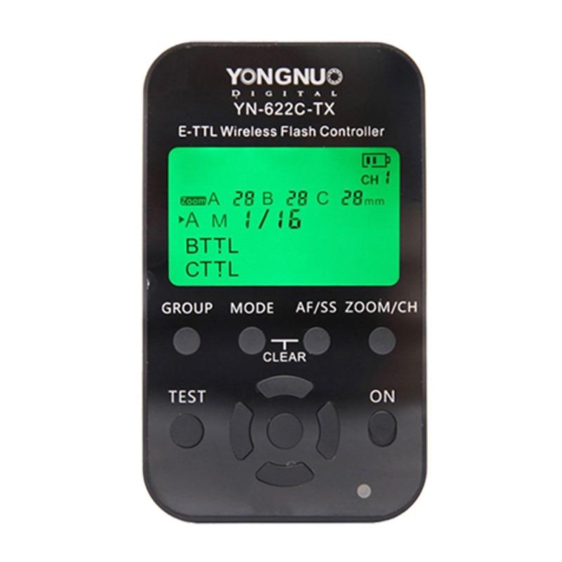 ถูก Y ongnuo YN-622C-TX YN622C-TXจอแอลซีดีI-TTL Wireless Flash Triggerควบคุมการส่งสัญญาณสำหรับYN622Cรับส่งสัญญาณรับสำหรับCanon