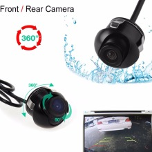 New Mini CCD Night Vision 360 Degree Car Rear Front Side View Backup Camera With Mirror Image Conversion Lines