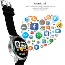 X200 8GB 512MB business Smart Watch Android5.1 MTK6580 heart rate monitor IP64 life waterproof Support 3G WIFI GPS Nano SIM card(China)