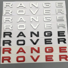 50pcs/lot NEW Chrome Matt silver glossy black red hood front badge Letter emblem for Range rover Land rover car stickers
