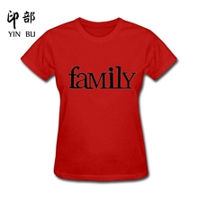 New design Hot High Quality Cotton family Graphics funny t shirt women(China)