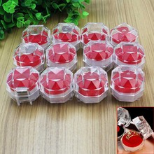 12pcs/Lot Clear Plastic Ring Brooch Jewelry Display Storage Box Case Container Holder Organizer