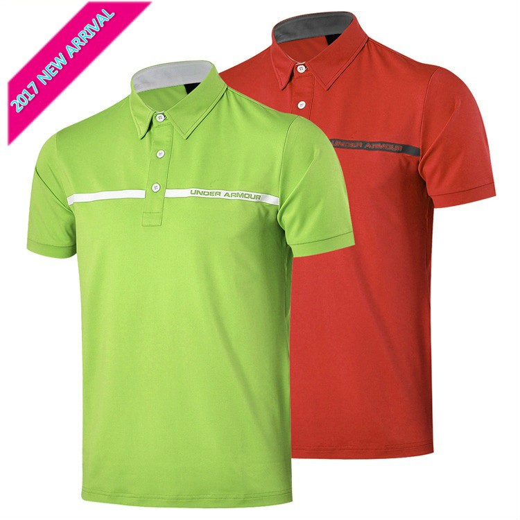 2017 new arrival spring and summer golf clothes mens clothing short-sleeve T-shirt golf polo shirt stripe cotton flat golf ball<br><br>Aliexpress