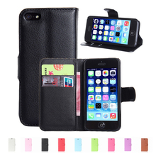 Konfurer Case For Apple iPhone 4 4S Luxury PU Leather Case Wallet Book Cover For iPhone 5 5C 5S SE Cover Fundas Holder Stand(China)
