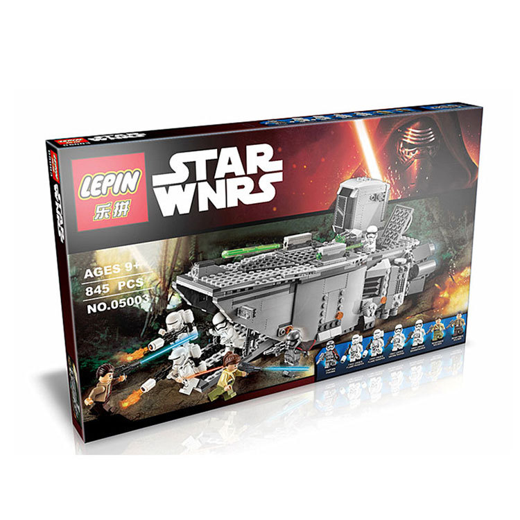 Lepin 05003 Star Wars First Order Transporter 833pcs Assembled Building Blocks Compatible To The Force Awakens<br><br>Aliexpress