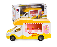 RC Car 2.4G Self-service Sales Car 6 Fast Food Car 8 Ice Cream Truck Charging Electric House Furniture For Boy and Girls Toy(China)