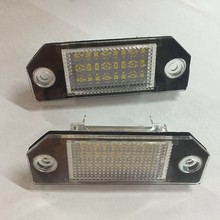 2X CE 3W Brand New Error Free Car SMD Auto Number LED License Plate Light Lamp License Lights Lamps for Ford Focus C-MAX MK2