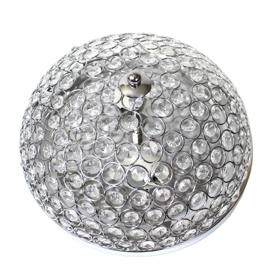 Elegant Designs 2 Light Elipse Crystal Flush Mount Ceiling Light - Chrome (2)