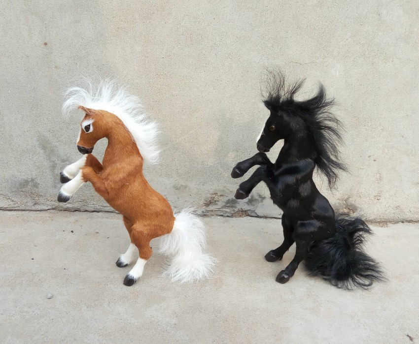 large 32 cm simulation horse Model toy, polyethylene &amp; furs , raising front legs horse model decoration gift t176<br><br>Aliexpress