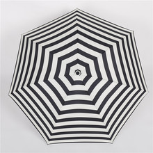Travel flower colorful shape sun umbrella sunny and rainy black coating good quality sunscreen women three-folding umbrella(China)