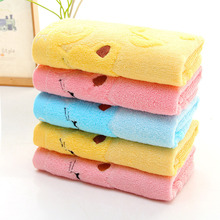 High Quality Non-twisted Bamboo Fiber Music Cat Baby Wash Towels Spa Facial Bath Towel(China)