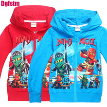 2017 Kids Clothes batman Ninja Ninjago Children's zip Hoodies Long Sleeve Kids Clothing Baby Boys Autumn jacket coat sweatshirts(China)