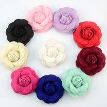 10pcs/lot 6.5cm Blooming Felt Camellia Fabric Flower Girls Apparel And Headband Accessories For Hair Bows Wholesale Craft DIY